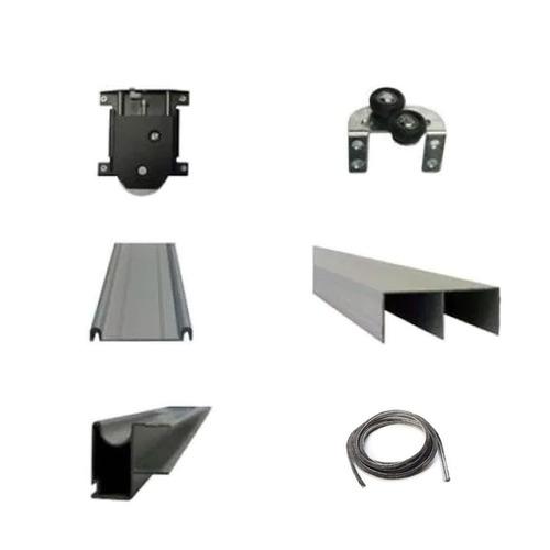 Kit Frente De Placard Aluminio Hafele 2mts 2p - Mundo Cima
