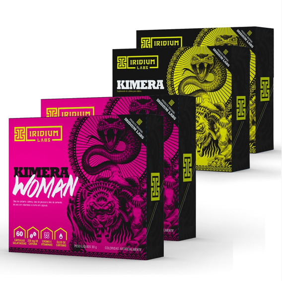Kit 2x Kimera Thermo + 2x Kimera Woman - Kit Termogênico