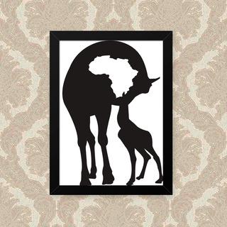 Quadro Girafa Mom 23x33cm