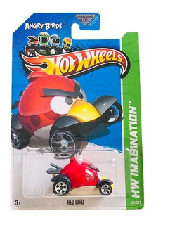 Juguete Carro Hot Wheels Angry Birds Red De Coleccion