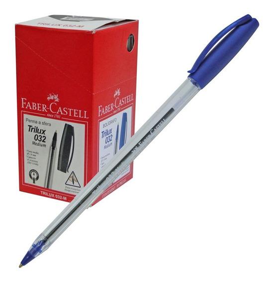 Lapicera Boligrafo Faber Castell Trilux Azul / Negro