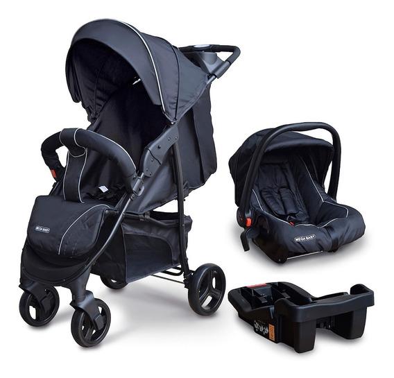 Coche Cuna Travel System Mega Baby Liviano Con Base