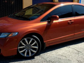 Honda Civic Si Sport Mt 6vel. Sedan 2009 Naranja.