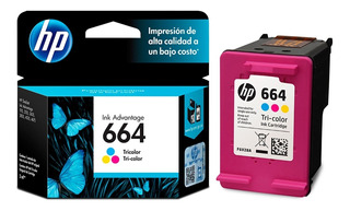 Cartucho Hp 664 Color - Original - Impresora
