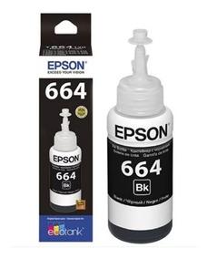 Refil De Tinta Epson T664 Preto 70ml Original Refil!!!