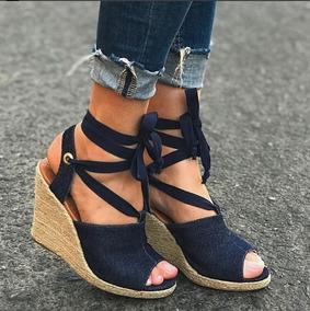 fbb94caa01 Vizzano Sapato Jeans Anabela Salto Feminino - Sapatos no Mercado ...