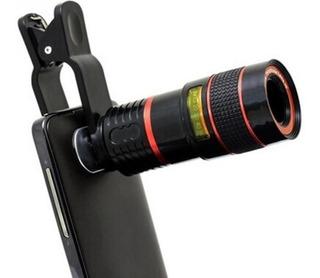 Lente Universal Zoom Óptico 8x Telescopio Celular O Tablet