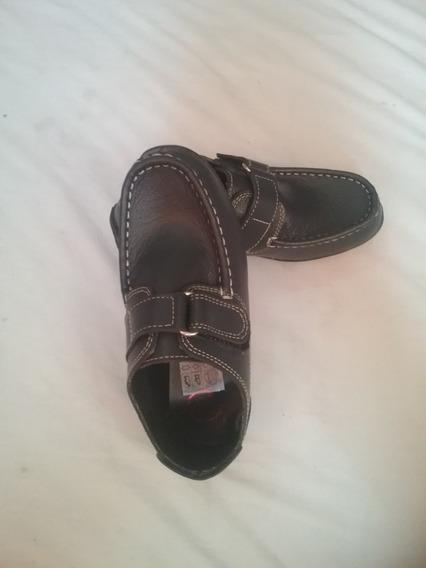 Zapatos Estilo Mocasin Color Piel Azul