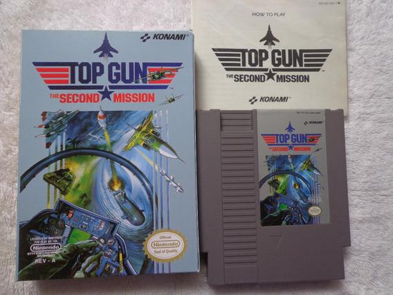 Nes - Top Gun Second Mission + Manual + Caixa