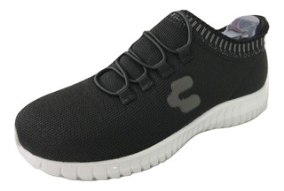 Tenis Charly Niño Infantil 1069198 Casual Deportivo Negro