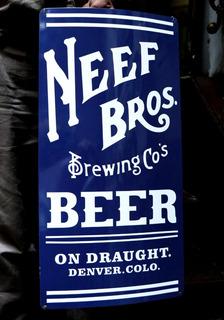Cartel De Chapa Neef Bros Cerveza - Antig La Rueda _ L R