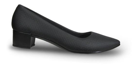 Beira Rio 422210 Zapato Clásico Puntudo Taco Medio Mujer