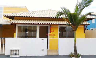 Casa Com 2 Dormitórios À Venda, 68 M² Por R$ 160.000 - Chácara Mariléa - Rio Das Ostras/rj - Ca0925
