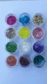 Glitter Com 12un Para Unhas Nevado/encapsulado Lançamento!!