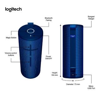 Parlante Boom 3 Sonido 360° Bluethoot Agua Logitech