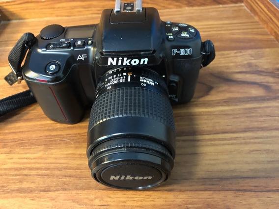 Câmera Nikon F601 Analógica Lente Af Nikkor 35-80 F/4.0-5.6d