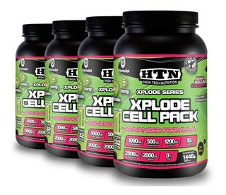 Xplode Cell Pack X 5,76 Kg Htn Glutamina Taurina Y Ginseng