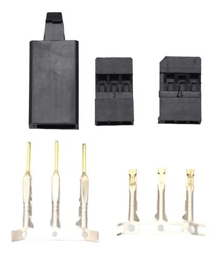 Imagem 1 de 1 de Conector De Servo Com Trava Padrao  Futaba ( 2 Pares)