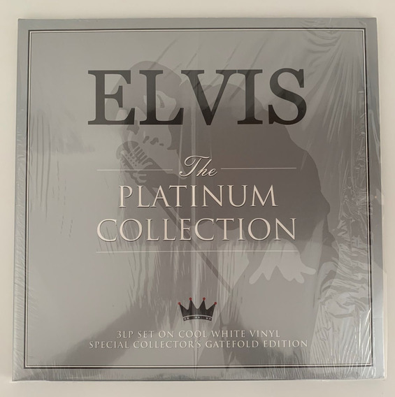 Lp Triplo Elvis Presley The Platinum Collection Vinil Branco