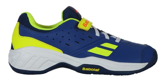 Tênis Infantil Pulsion All Court Azul E Amarelo - Babolat