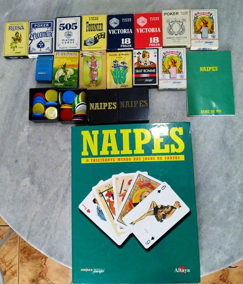 Coleção Naipes ( Baralhos + Livro + Fichas + Bloco De Nota)