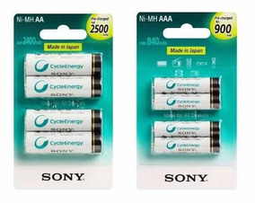 Kit 8 Pilhas Aa Sony + Hd Externo Seagate 1 Tb