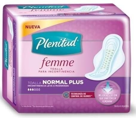 Toallitas Femeninas Plenitud Femme Normal Plus X8