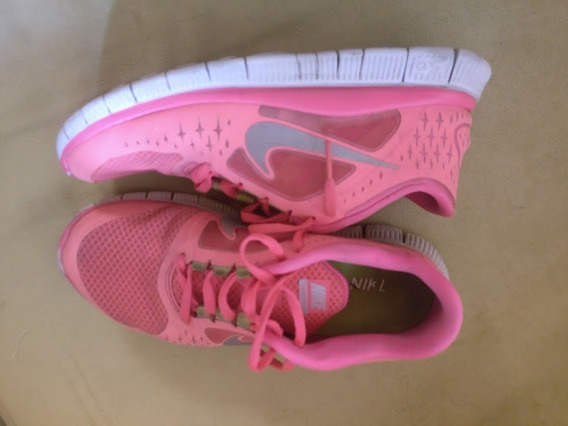Zapatillas Nike Free Run De Mujer Excelente Estado Talle 8