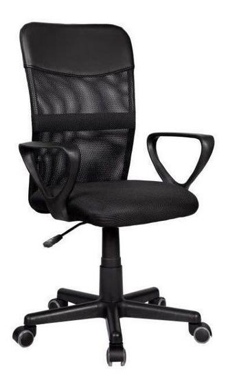 Cadeira Diretor Em Tela Mesh Preta Pelegrin Pel-0204
