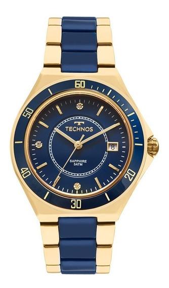 Relógio Technos Dourado Feminino Elegance 2115mmn/4a