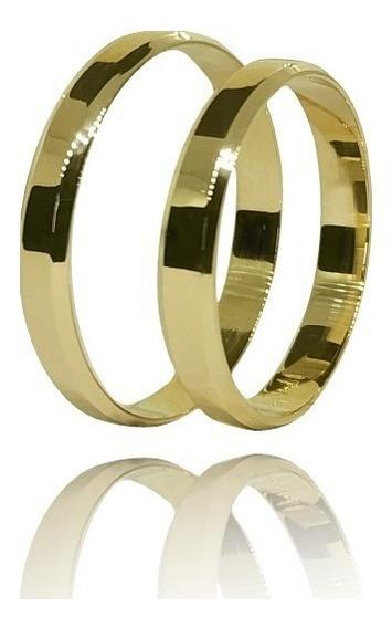 Par Alianças Ouro Legítimo Casamento 3mm 3 Gramas