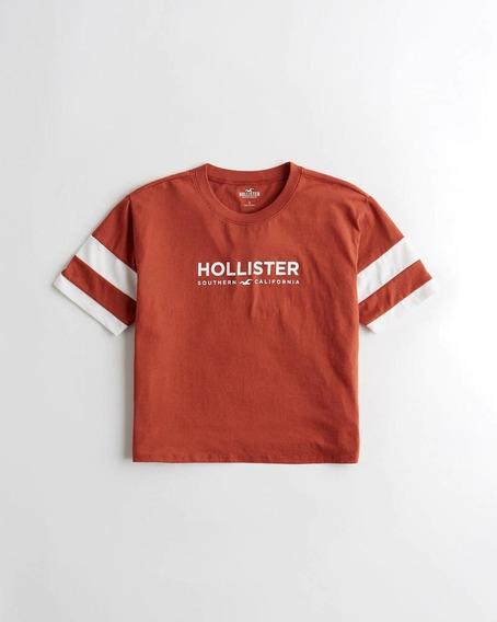 Remera Hollister Mujer, Talles L Y Xl, Roja, Original Usa