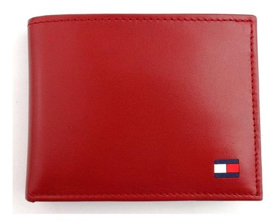 Billetera Marca Tommy Hilfiger Para Caballero Roja