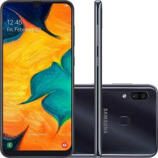 Smartphone Samsung Galaxy A30 64gb Dual Chip Android 9.0 Tela 6.4 Octa-core 4g Câmera 16mp + 5mp - Preto