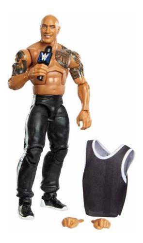 Imagen 1 de 5 de Figura Wwe Mattel Elite Luchador The Rock - La Roca