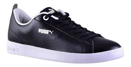 Zapatillas Puma Smash V2 L Perf Adp Negra Mujer