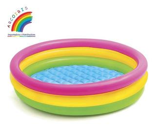 Piscina Inflable Infantil 3 Aros Tricolor