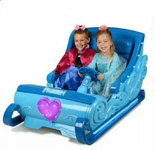 Carro Trineo Montable Eléctrico Frozen Disney Nuevo Original