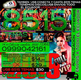 Ecuakaraoke Profesional 8515 Temas A Solo $15 Dolares Y Usb