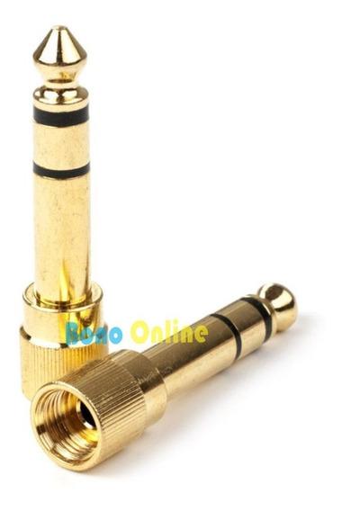 Plug Adaptador P2 P/ P10 Com Rosca Sennheiser Bose Akg Shure