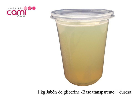 Jabón De Glicerina 1 Kilo Extra Dureza Transparente
