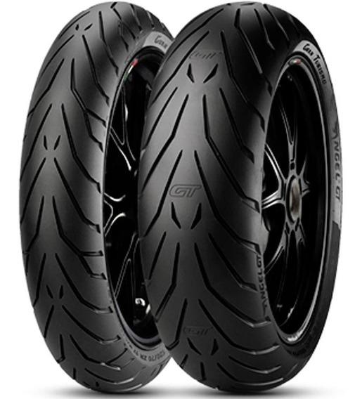Par Pneu Cb 500 F 190/55r17 + 120/70r17 Zr Angel Gt Pirelli