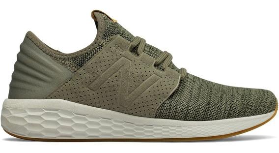 Tenis New Balance Fresh Foam Knit Verde Militar Correr Gym