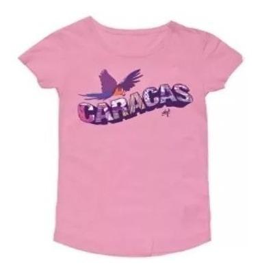 Franelas Para Damas, Marca Wizz, Modelo Saludos Caracas Pink