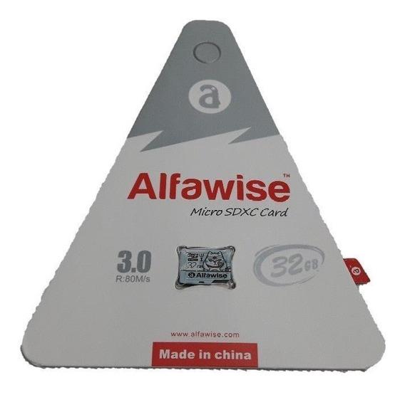 Micro Sd 32gb Classe10 Alfawise Original + Leitor De Brinde