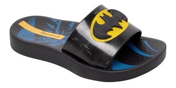 Chinelo Slide Infantil Batman 26289 Preto/amarelo Grendene