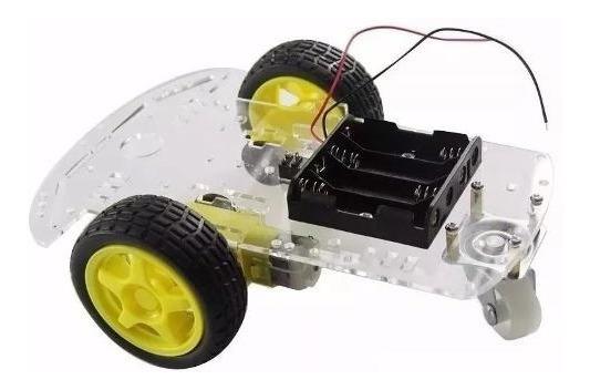 Smart Car Chassi Carro 2 Rodas 2wd Robótica Arduino