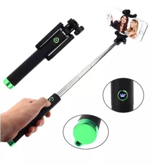 Pau De Selfie Universal Retrátil Bastão Monopod C/disparador