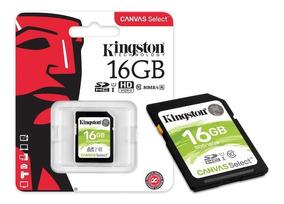 Cartão Memória Sdhc 16gb Canvas Select Sds/16gb - Kingston