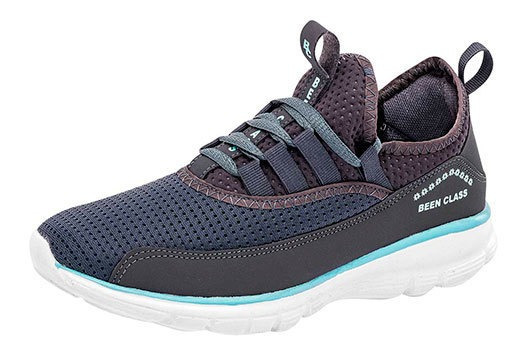 Bclass Sneaker Casual Mujer Gris Sint Perforado C42209 Udt